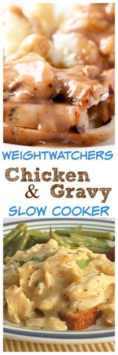 Weight Watchers Slow Cooker Chicken & Gravy - Easy & Delicious Comfort Food Family Favorite with 4 SmartPoints