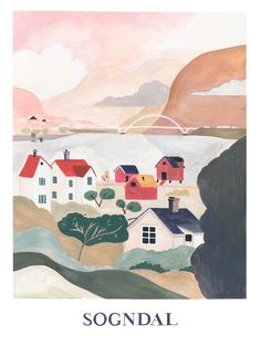 Illustration poster painted in gouache. Illustrator Pádhraic Mulholland based in Norway. Poster Paint, Northern Irish, Color Themes, Gouache, Illustrations Posters, Norway, Illustrator, Collage, Watercolor