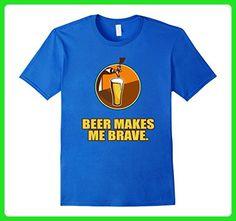 Mens Funny Drink Beer Makes Me Brave Men Drunk Wasted T Shirt 3XL Royal Blue - Food and drink shirts (*Amazon Partner-Link)