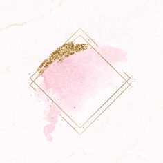 Gold rhombus frame on pink watercolor background vector Pink Glitter Background, Flower Background Wallpaper, Logo Background, Framed Wallpaper, Flower Backgrounds, Watercolor Background, Textured Background, Glitter Wallpaper, Wallpaper Backgrounds
