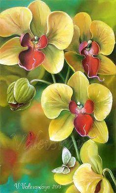 Картины (живопись) : Желтая орхидея. Автор Валентина Михайловна Валевская