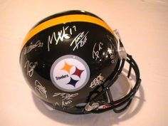 2012 Pittsburgh Steelers Team Signed Autographed Helmet Harrison, Troy Polamalu, Wallace and More with Certificate of Authenticity by riddell. $399.99. this item is a new full size helmet . the item is hand signed my the players from the 2012 team . this item will come  with a Certificate of Authenticity . you will be 100% happy or your money back .