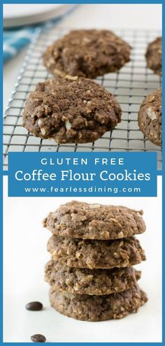 Coffee flour is a fun new gluten free flour that is perfect for baking. These gluten free coffee flour coconut cookies are perfect for a treat. fearlessdining Best Gluten Free Desserts, Gluten Free Cookie Recipes, Easy To Make Desserts, Allergy Free Recipes, Gluten Free Cookies, Kokos Desserts, Köstliche Desserts, Delicious Desserts, Dessert Recipes