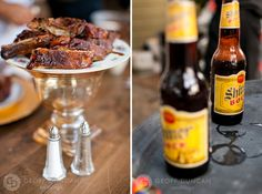 Dr. Pepper Pork Ribs and Shiner Bock - Well, good grief... Dr. Pepper, ribs & Shiner Bock all together in one meal...honey hush!