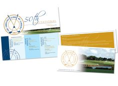 50th Invitational Golf Invite #invite #design #graphicdesign #golf #golfclub #invitational #countryclub Golf, Branding, Chart, Invitations, Graphic Design, Brand Management, Save The Date Invitations, Identity Branding, Shower Invitation
