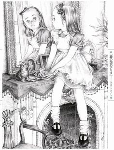 """Alice (Alice in Wonderland)"" - drawing by Mihoto Kouji"