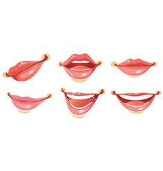 Set of lips vector material | Mujer, compras y moda ...