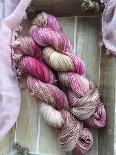 Hand Dyed Yarn | Fingering - Sock Weight | High Twist Superwash Merino Wool and Silk Yarn - Pink - Brown - Chocolate Cherries