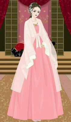 Jang Nara, Empress Ki, Korean Hanbok, Scarlet Heart, Hanfu, Korean Beauty, Traditional Dresses, Colored Pencils, Chibi