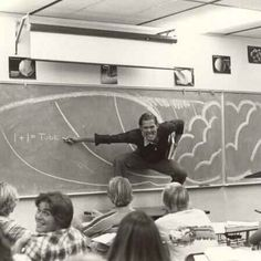 """""""My dad teaching math in southern California (late '70s/early '80s)."""""""
