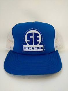 952456855db Steed and Evans Vintage Trucker Hat Mesh Retro