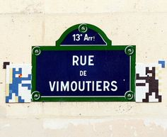 Les Space Invaders de la rue de Vimoutiers (Paris 13ème).