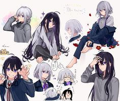 Find images and videos about boy, anime and touken ranbu on We Heart It - the app to get lost in what you love. Sanrio Danshi, Slayer Anime, Anime Demon, Touken Ranbu, Pictures To Draw, Cute Love, Anime Couples, Kawaii Anime, Cartoon Characters