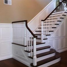 Love the contrast. A powerful staircase is a statement!