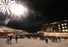 Happy New Year!   January 1st, 2014 - Firework show at the Canyons Ski Resort in Park City, Utah