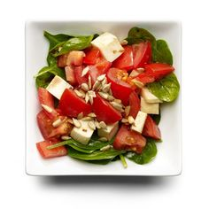 Mozzarella and Tomato Salad http://www.womenshealthmag.com/food/lunch-ideas/slide/5