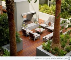 modern contemporary hardscapes