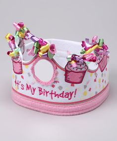 Take a look at this Pink Birthday Crown by Stephan Baby on #zulily today!