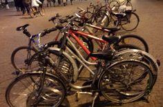 in centro con la bici