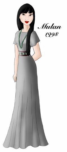 Mulan designer gown by ruletheworldwithsong on DeviantArt