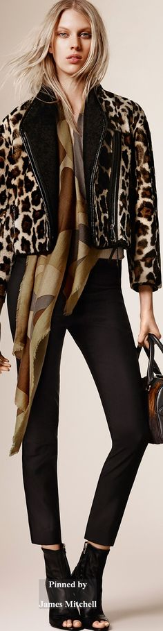 Burberry Prorsum Collection Pre-Fall 2015 Wild Print