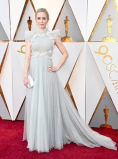 Emily Blunt in Schiaparelli Haute Couture - The Best Dressed On The 2018 Oscars Red Carpet - Photos
