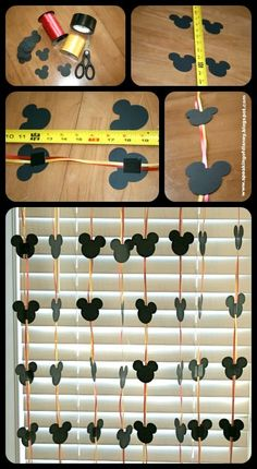 Easy DYI Disney Garland - Decorations for your hotel room -  Speaking of Disney