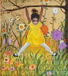 """Keane Paintings Value   Home / paintings / """"Abounding Joy"""" (2013)"""