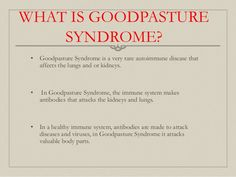 Goodpasture Syndrome