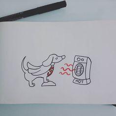 #tattooscketch #outline #ink #pettattoo #cutie #dog #pet #dachshund #superman #warmer #hairdryer #inlovewithit #truelove By Francesca Pannone