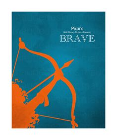 DISNEY PIXARS BRAVE Art print children's kids nursery art decor, minimalist disney artwork
