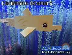 Yellow dolphins for visibility. Yep, that's it. and bubbles because they're cute! Tumble's dolphins are super cute, but that's not unusual for our pack. Minecraft 1, Dolphins, Bubbles, Super Cute, Packing, Letters, Yellow, Bag Packaging, Letter