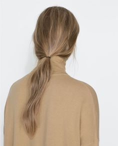 low loose ponytail