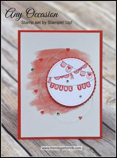 Thank You Card idea with Any Occasion (Sale-a-bration stamp set) by Stampin' Up!