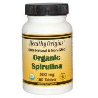 iHerb.com - Отзывы Покупателей -Healthy Origins, Органическая спирулина, 500 мг, 180 таблеток