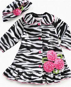 Bonnie Jean Baby Set, Baby Girls Zebra Coat and Hat - Kids Baby Girl (0-24 months) - Macy's