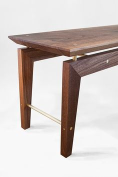 Dante Bench — Asher Israelow is part of Hardwood table - Asher Israelow is a furniture and architectural designer based in Brooklyn Hardwood Table, Hardwood Furniture, Bench Furniture, Woodworking Furniture, Fine Furniture, Furniture Projects, Furniture Making, Modern Furniture, Fine Woodworking