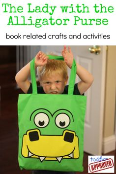 The Lady with the Alligator Purse book related crafts and activities. Language Activities, Sensory Activities, Book Activities, Alligator Birthday, Preschool Classroom, Preschool Ideas, Summer Books, Kindergarten Class, Children's Literature