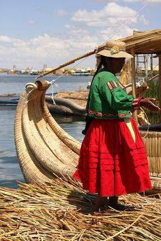 Reed Boats Lake Titicaca, Peru  This world is really awesome. The woman who make our chocolate think you're awesome, too. Please consider ordering some Peruvian Chocolate today! Fast shipping! http://www.amazon.com/gp/product/B00725K254