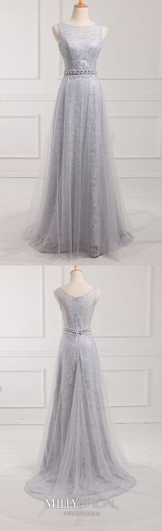 Modest Formal Dresses Long, Grey Prom Dresses for Teenagers, Lace Military Ball Dresses Unique, Tulle Graduation Dresses With Beading - StacieCreag - Modest Formal Dresses, Vintage Formal Dresses, Formal Dresses For Teens, Cheap Prom Dresses, Formal Evening Dresses, Unique Dresses, Trendy Dresses, Party Dresses, Long Dresses