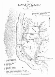 Plan of Position at Battle of Batoche May 1885 [From: The Canadian Pictorial and Illustrated War News, 27 June p. See also SAB - SAIN Photographs