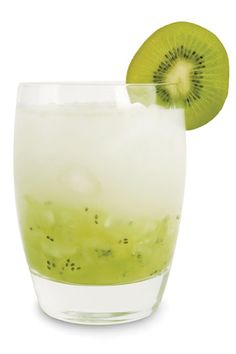 Happily Ever After  1½ oz. Lucid absinthe ½ oz. simple syrup Club soda Kiwi fruit Cucumber