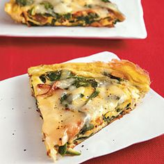 Spinach, Onion, and Swiss Frittata | CookingLight.com
