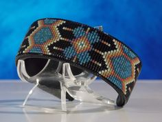 Native American Beaded Morning Star Cuff Bracelet                                                                                                                                                                                 Plus