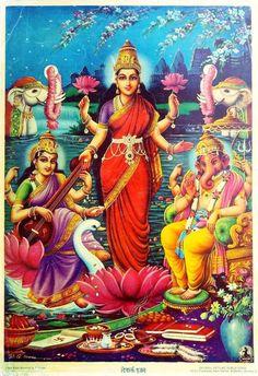 Strength † Wisdom — hinducosmos: Diwali Pujan Artist: B.