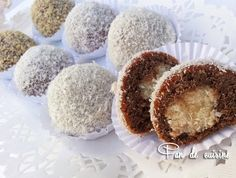 Boules au chocolat et à la noix de coco