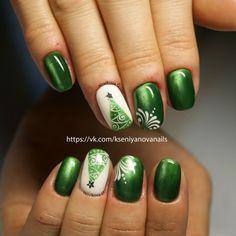 Дизайн ногтей Новый год, снежинки   151 фотографія