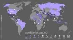 by Jesus Diaz - GIZMODE / A World Conflict Map 2012 / 世界紛争地図2012 (viaG)