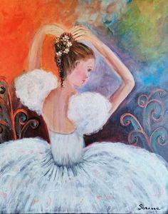 Suzanne Smeets Ballerina Olio acrilico su tela 50x60