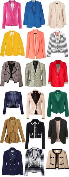 I love blazers!  They can hide a myriad of body flaws, and they always give you a look of sophistication.  They look great over a basic dress or over jeans or a cute skirt!